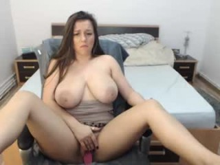 natashaboobs blonde camgirl naked over red fur